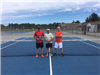 2018  Mens Senior - Finalist Bob Ovoian, Tournament Director Paul Perry, Champion Terry Lapierre