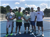 2018 Mens Doubles - Finalists Andrew Brown and Keith Hendrix  -  Tournament Director Paul Perry  -