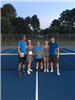 2018 Mixed Doubles - Finalists Scott Reznich, Emily Manion - Tournament Director Paul Perry - Champi