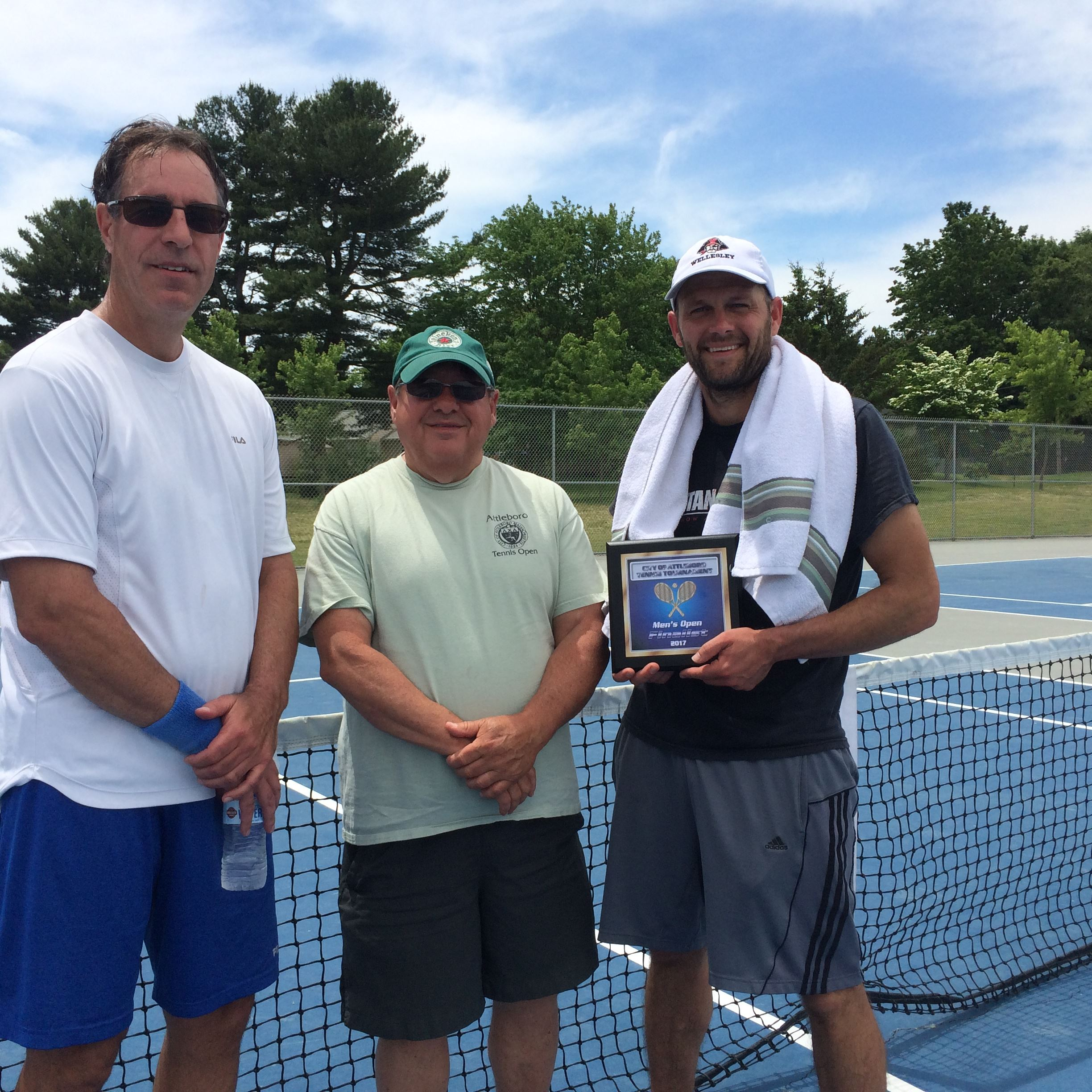 2017  Mens Open - Champion Bruce Ogilvie, Tournament Director Paul Perry,  Finalist Andrew Bennett