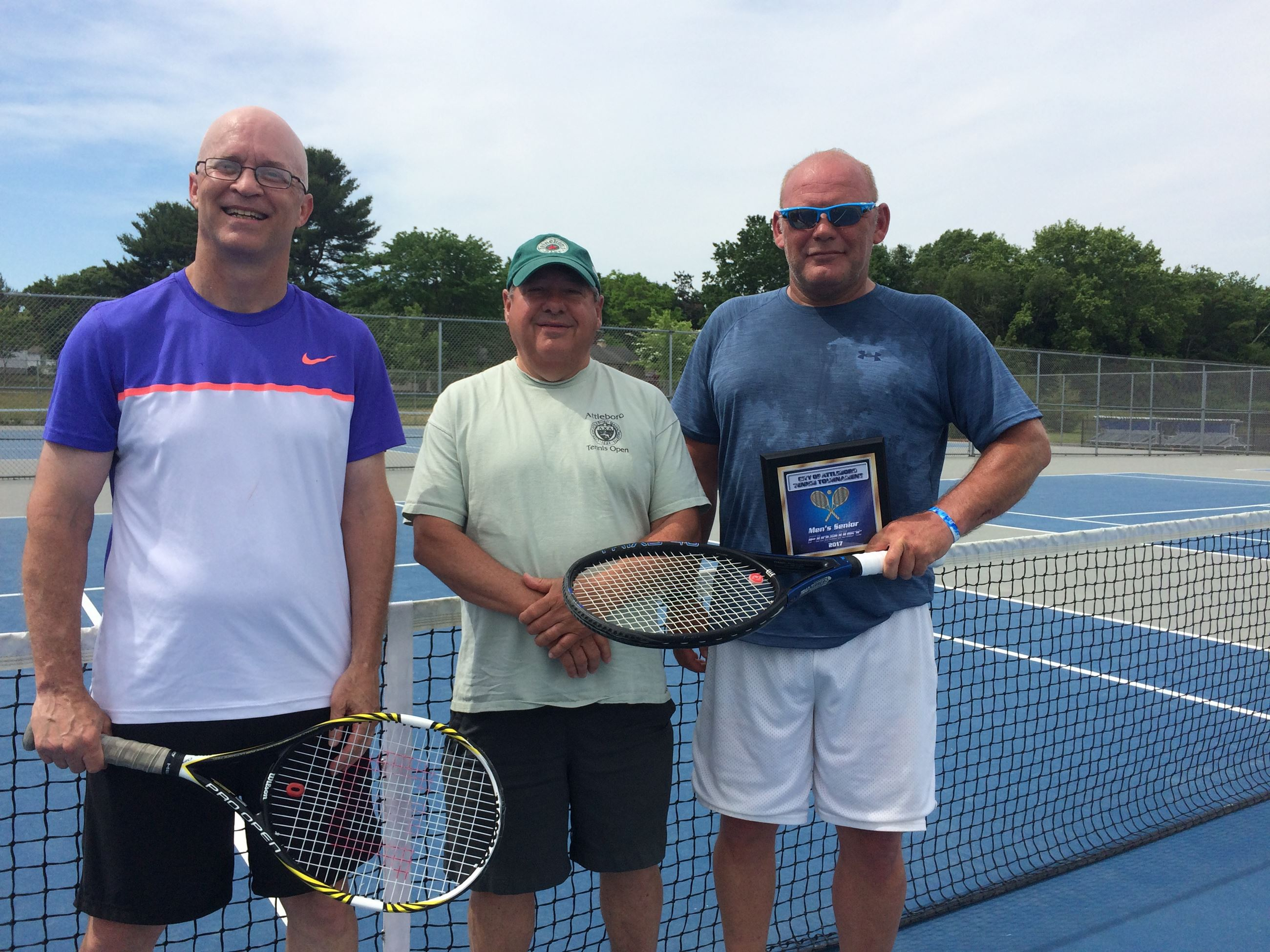 2017  Mens Senior Open - Champion Terry Lapierre,  Tournament Director Paul Perry,  Finalist Brian P
