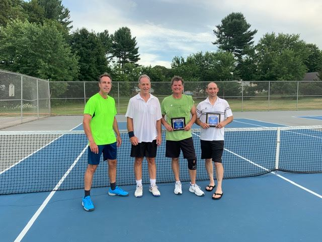 2019 Mens Doubles-Champions Bruce Ogilvie and Dan Smith-Tournament Director Paul Perry-Finalists Kei