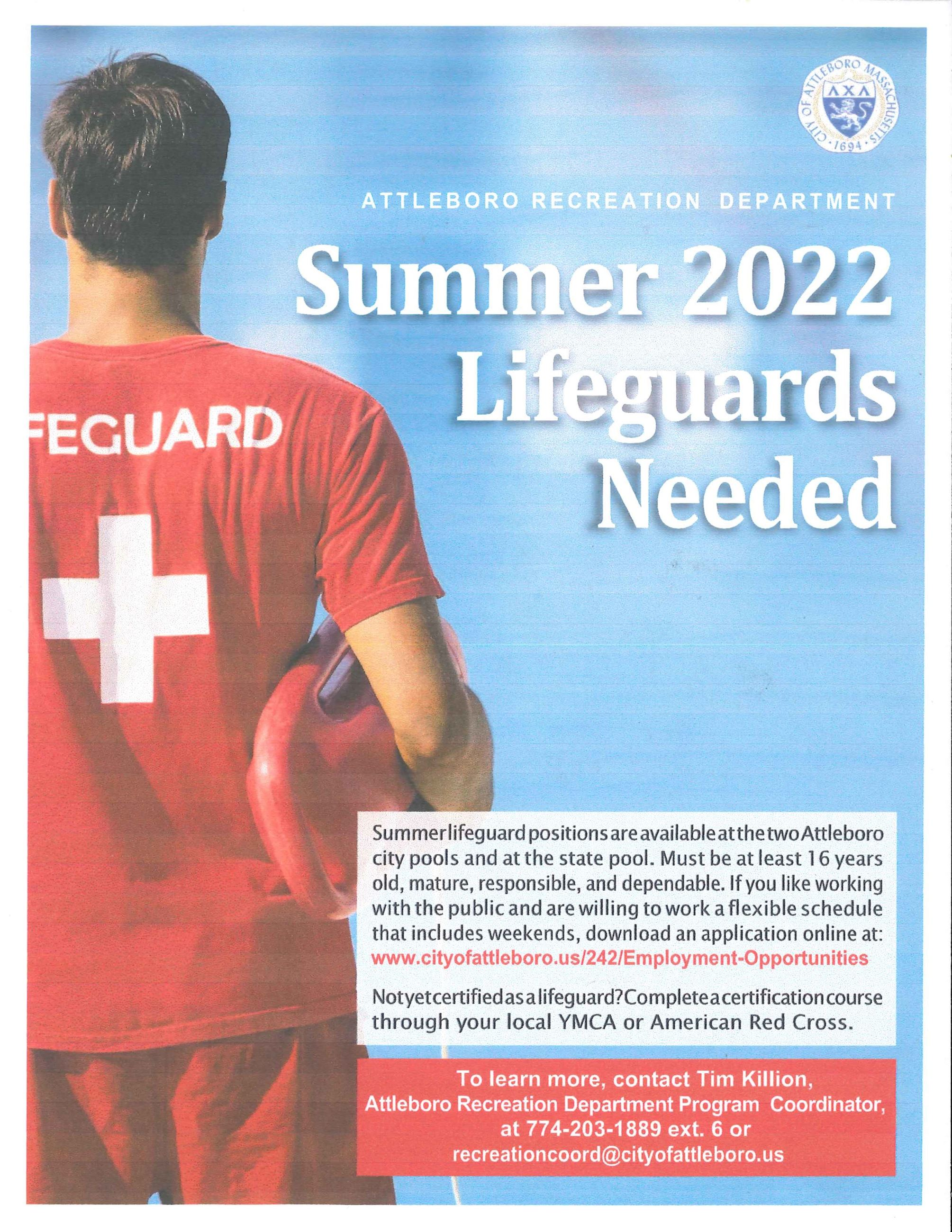 Lifeguards Wanted 2021 Season