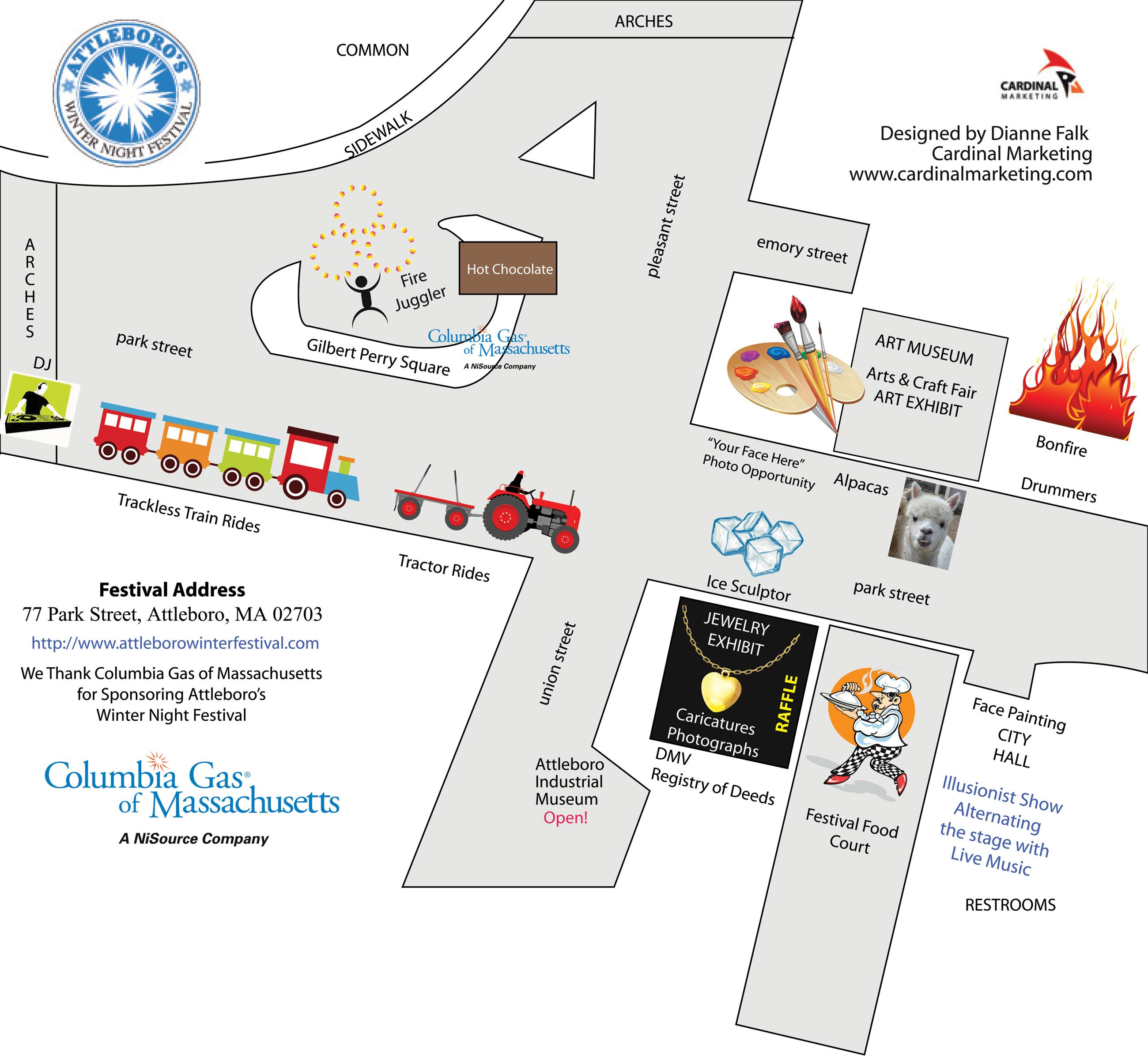 2018 Winter Festival Downtown Map
