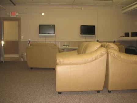Couches in the computer lab and homework room