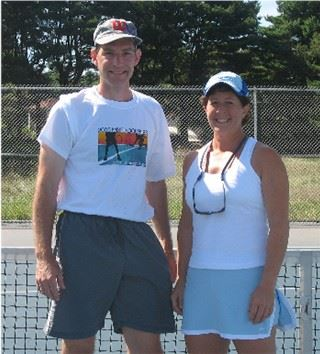 2006 Mixed Doubles Champions Tom Kenyon and  Barbara Cilli