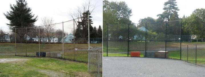 A renovated baseball fence