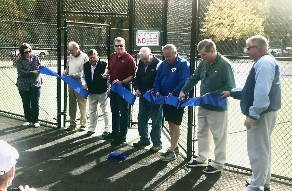Ribbon Cutting - Finberg Tennis Courts  10-13-19