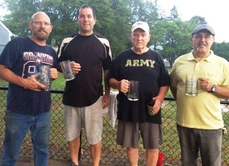 2016 Doubles Champions Drew Briggs, Steve Towner, Ed Beaulier, Dick Plam