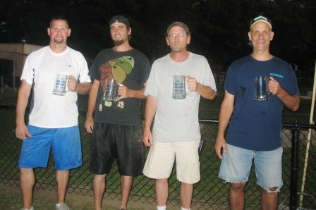 2014 Champions Mike Deluca, Bob Blais, Billy Morse, Peter Malewicz